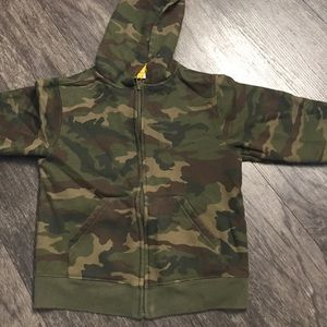 Boys Camouflage Jacket With Hood Size 5